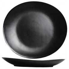 Assiette Vongola 28x25,5cm noire - 8