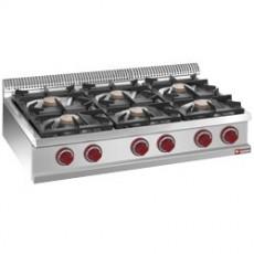 Cuisinière 6 feux gaz