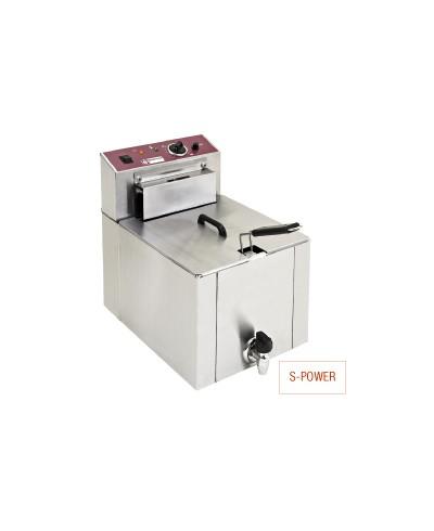 """Friteuse de table électrique """"S-Power"""" 12 litres + robinet de vidange"""