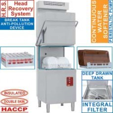 Lave-vaisselle capot 50x50 + adoucisseur continu + condenseur-récupérateur de buées