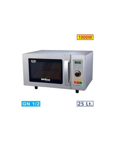 Micro-ondes 25L inox 1000W - mécanique