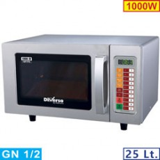 Four micro-ondes 25L inox 1000W - digital