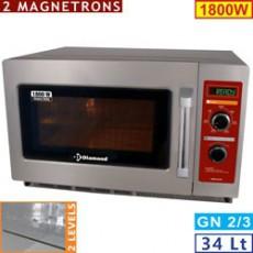 Four micro-ondes 34L inox 1800W - mécanique