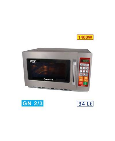 Four micro-ondes 34L inox 1400w - Digital