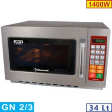 Four micro-ondes 34L inox 1400W - digital