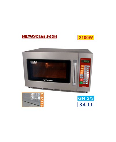 Four micro-ondes 34L inox 2100W - digital
