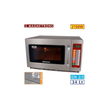 Four micro-ondes 34L inox 2100W - digital
