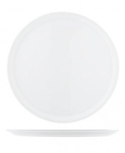 Assiette à pizza 33cm blanche - 6