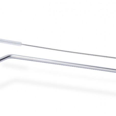 Paille inox 25cm courbé - 20