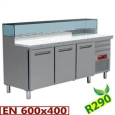 Table frigorifique 3 portes et 3 tiroirs