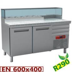 Table frigorifique 2 portes et 3 tiroirs
