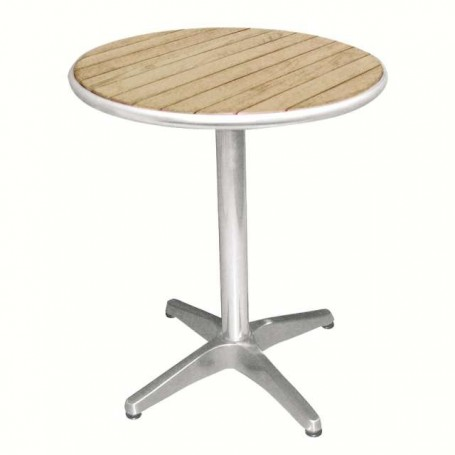 Table bistro ronde en bois de frêne