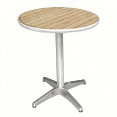 Table bistro ronde avec plateau en frêne
