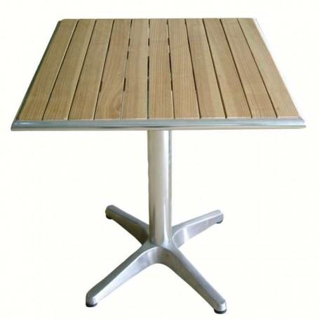 Table bistro carrée en bois de frêne