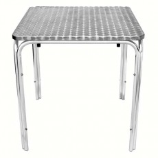 Table bistro aluminium empilable