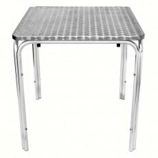 Table bistro aluminium empilable