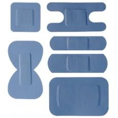 Sparadraps bleus assortis