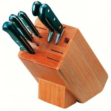 Bloc en bois porte-couteaux