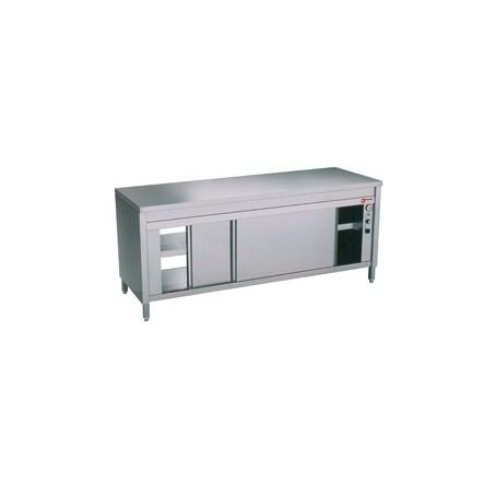 Table armoire chauffante portes coulissantes for Armoire chauffante cuisine professionnelle