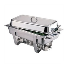 Lot de 2 chafing dishes Milan + 72 capsules de gel combustible