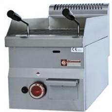 Grill pierre de lave avec grille de cuisson en fonte