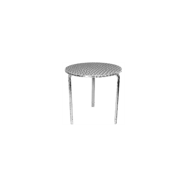 Table bistro aluminium empilable matoreca - Table ronde en aluminium ...