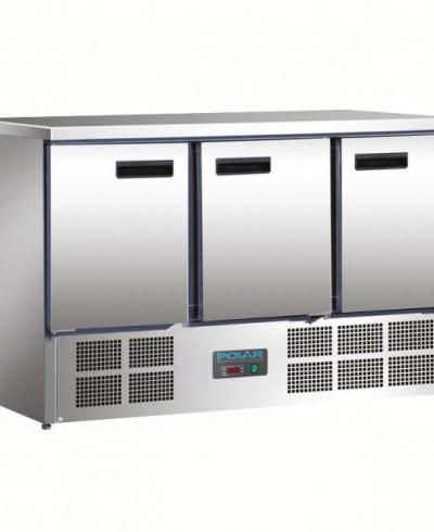 Table de préparation avec réfrigérateur 3 portes