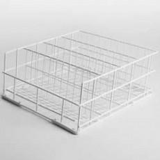 Panier à verres 4 rangées - 40x40cm - Fond incliné