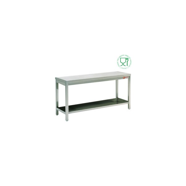Table de travail inox aisi304 441 700 mm matoreca for Table de travail inox professionnel