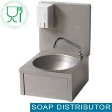 Lave-mains mural + distributeur savon 500ml - eau froide