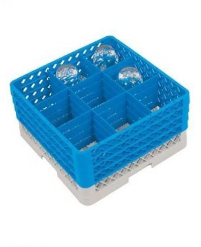 Casier cloisonné pour verres sans-pieds 9 compartiments