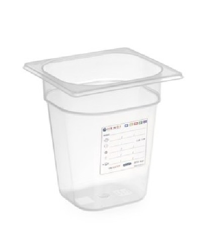 Boîte de stockage en polypropylène GN1/6 - 15cm