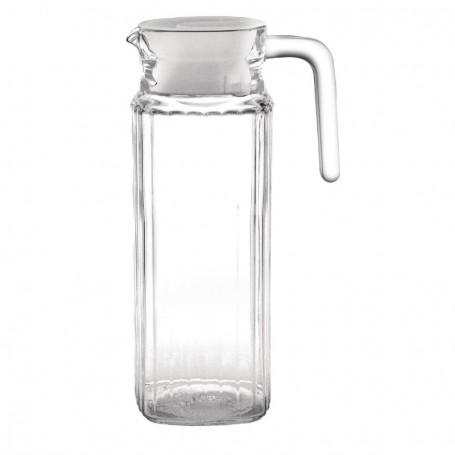 Pichet en verre rainuré 1 litre